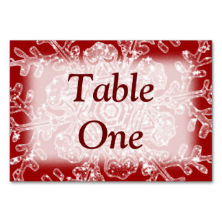 Frosty Flake Table Cards