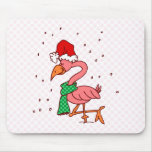Frosty Flamingo Mouse Pads