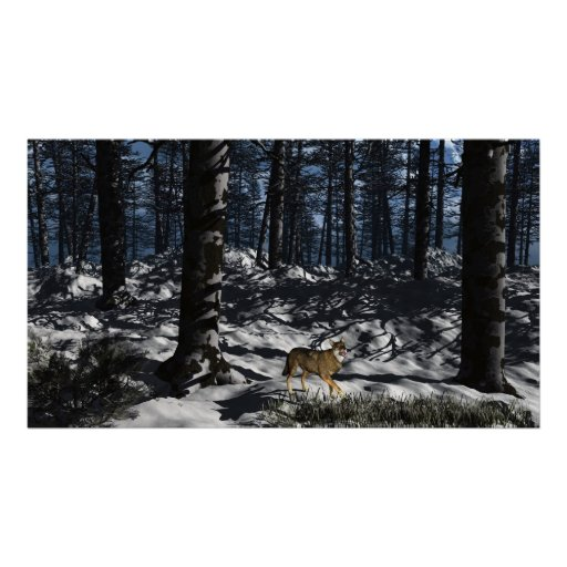 Frosty Forest Poster