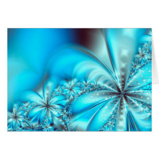 Frosty Fractal Christmas Greeting Card