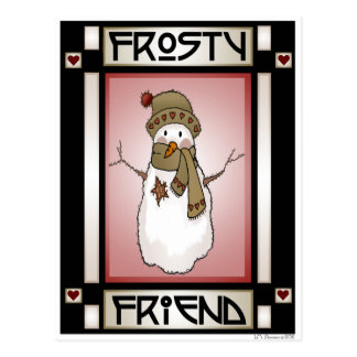 Frosty Friend Snowman #3 Postcard