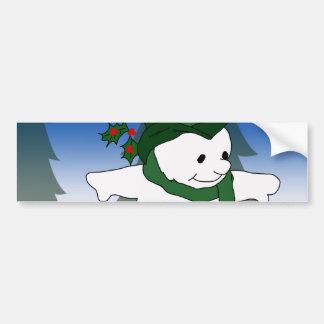 Frosty in Green Bumper Stickers