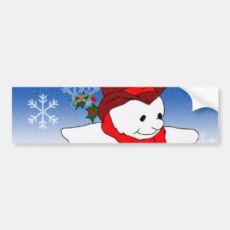 Frosty in Red Car Bumper Sticker