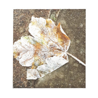 Frosty Leaf Notepad