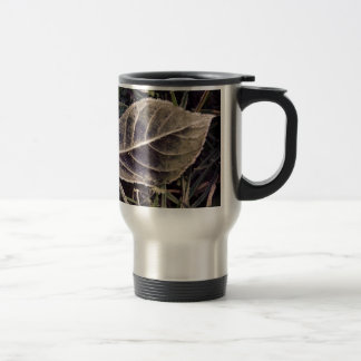 frosty leaf stainless steel travel mug