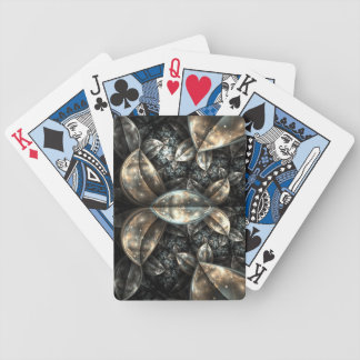 Frosty leaves playing cards