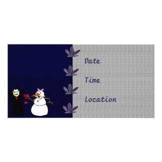 Frosty Love Customized Photo Card