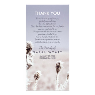 Frosty Meadow | Winter | Sympathy Thank You Picture Card