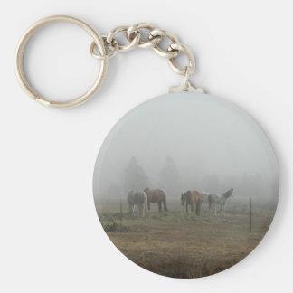 Frosty Morning Fog w/ Horses key chain