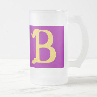 Frosty Mug Monogrammed with the Letter B