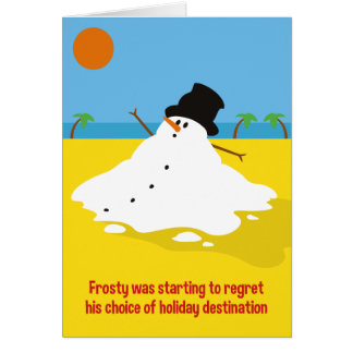 Frosty on Holiday Christmas Card