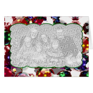 Frosty Ornaments (photo frame) Greeting Card