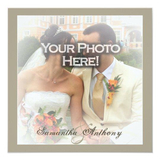 Frosty Photo Overlay Wedding Invitations
