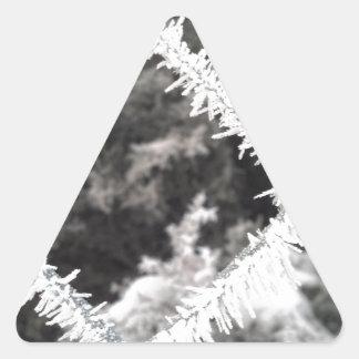 Frosty Photo Triangle Sticker