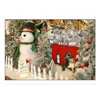 frosty postcard