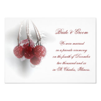 Frosty Red Berries Marriage/Elopement Announcement