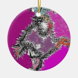 Frosty Reflections (Fuchsia) Christmas Ornament