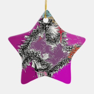 Frosty Reflections (Fuchsia) Christmas Ornament