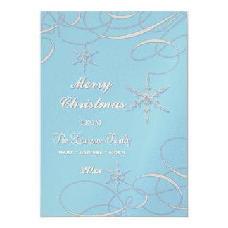 Frosty Snowflake Christmas Photo Greeting Cards 13 Cm X 18 Cm Invitation Card