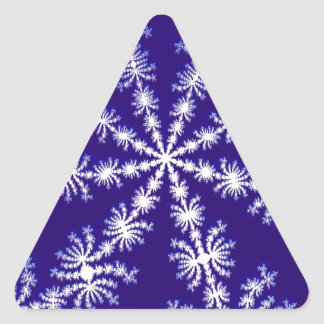 Frosty snowflake effect 3D fractal. Triangle Sticker