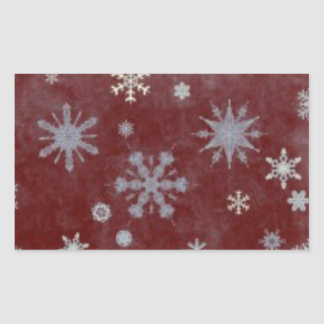 Frosty Snowflake Rectangular Sticker