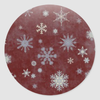 Frosty Snowflake Round Sticker