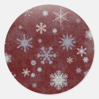 Frosty Snowflake Round Sticker