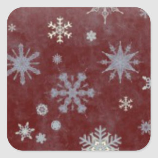 Frosty Snowflake Square Sticker