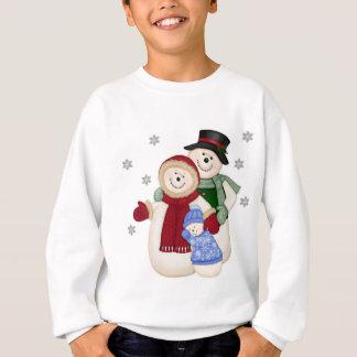 Frosty Snowman Family - Blue Sweatshirt