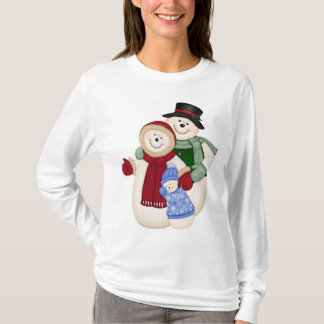 Frosty Snowman Family - Blue T-Shirt