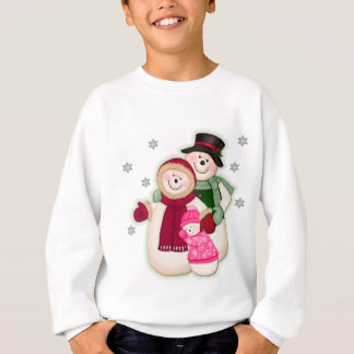 Frosty Snowman Family - Pink Tshirts
