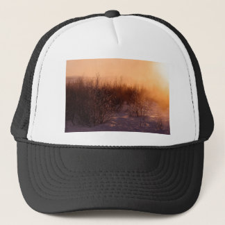 Frosty Snowy Trees and Landscape Trucker Hat