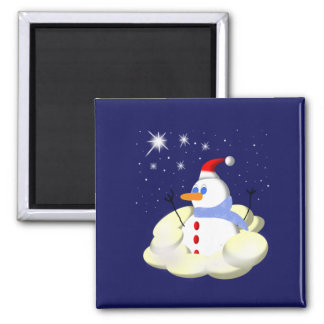 Frosty Square Magnet