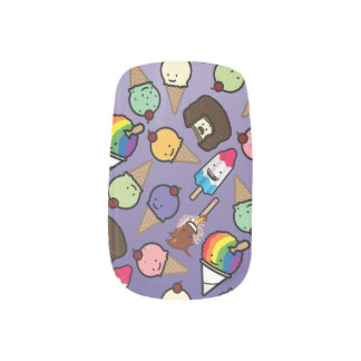 Frosty Treats - Purple Ombre Nail Wraps