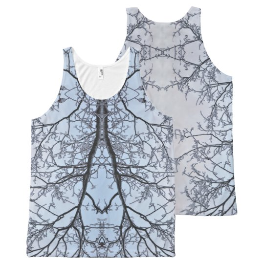 Frosty veins All-Over print tank top