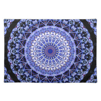 Frosty Window Patterns In Mandala Form Placemat