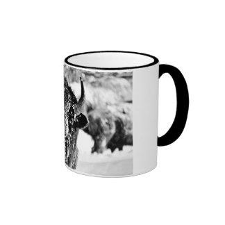 Frosty Yellowstone Bison Coffee Mug