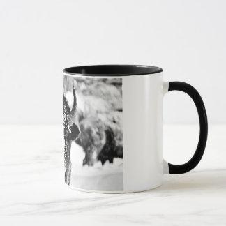 Frosty Yellowstone Bison Mug