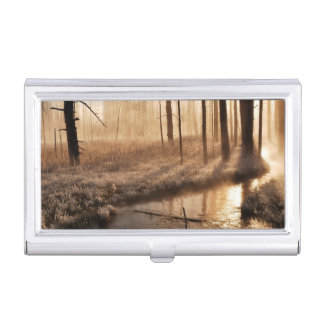 Frosty Yellowstone Morning Business Card Holder