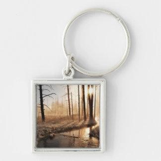 Frosty Yellowstone Morning Key Ring