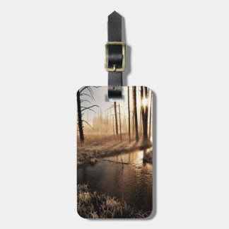 Frosty Yellowstone Morning Luggage Tag