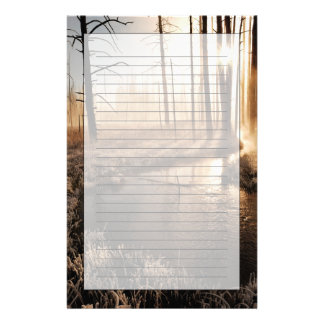 Frosty Yellowstone Morning Stationery