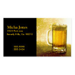 Frothy Mug Of Beer Double-Sided Standard Business Cards (Pack Of 100)