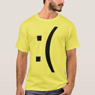 Frown Face Text T-Shirt