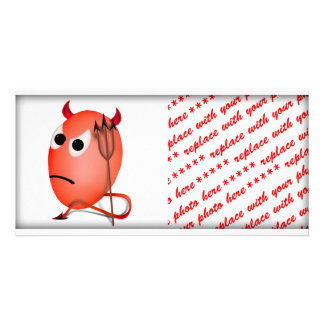 Frowning Little Devil'ed Egg Photo Greeting Card