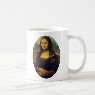 Frowning Mona Lisa Basic White Mug