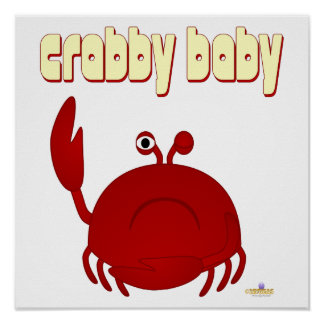Frowning Red Crab   Baby Poster