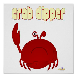 Frowning Red Crab Crab Dipper Print