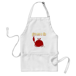 Frowning Red Crab Give Me A Dip Aprons