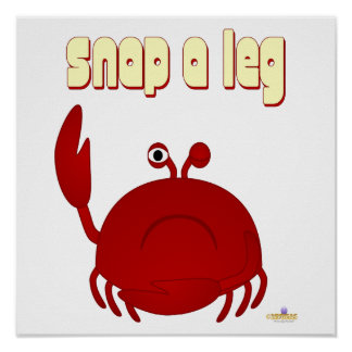 Frowning Red Crab Snap A Leg Poster